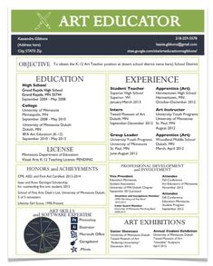 A Resume for the Modern Art Teacher