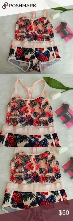 Nwt Pink Vs Bralette XS + Logo Boyshort Size S Very soft and comfy.  Brand new pink victoria's secret Bralette Size XS & Boyshort size S.  Smoke and pet free home.  Fast shipping + extra gift.  I don't trade love.  Available PINK Victoria's Secret Intimates & Sleepwear Bras