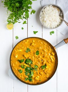 Vegetarisk tikka masala med blomkål Veggie Recipes, Indian Food Recipes, Healthy Dinner Recipes, Vegetarian Recipes, Veggie Food, Healthy Food, Good Food, Yummy Food, Food Crush