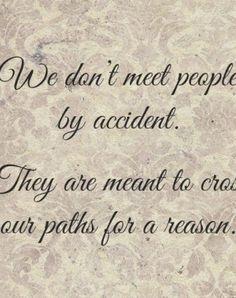 Happen for a reason