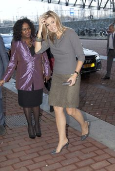 Princess Maxima of The Netherlands arrives to award the Prince Bernhard Culture Prize on 26 Nov 2012 in Amsterdam