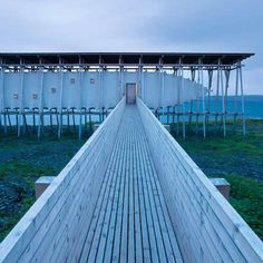 Steilneset Memorial by Peter Zumthor  and Louise Bourgeois to commemorate suspected witches who were burned at the stake here in the seventeenth century