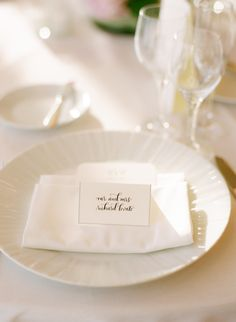 All White Place Settings