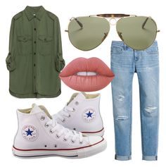 """""""tomboy casual"""" by josiemae426 on Polyvore featuring Zara, White House Black Market, Converse, Ray-Ban and Lime Crime"""