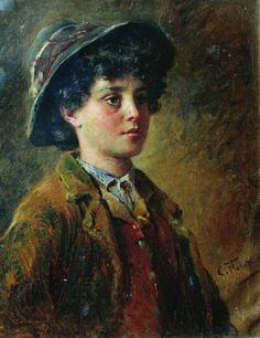 Konstantin Makovsky Portrait Of The Italian Boy