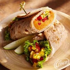Sweet+Potato+Wrap+with+Chipotle+Pineapple+Relish from Crisco®