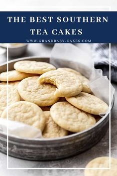Perfectly buttery rich soft and flavorful with the perfect texture this Southern Tea Cakes Recipe is the BEST one online! You will feel like you are right in the South after making and serving these not to mention eating them. Tea Cake Cookie Recipe, Tea Cake Cookies, Cupcakes, Recipe For Tea Cakes, Best Tea Cake Recipe, Easy Cookie Recipes, Baking Recipes, Cake Recipes, Dessert Recipes