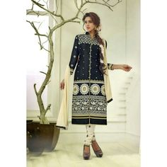 Shop Amar Enterprise Represents Black & Cream Colored Casual Weardress Material by Amar Enterprise online. Largest collection of Latest Dresses, Gowns and Kaftans online. ✻ 100% Genuine Products ✻ Easy Returns ✻ Timely Delivery