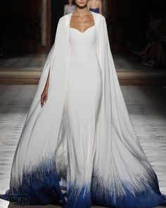 Tony Ward Fall Winter Collection 2015 #fashion#collection#cape#dress#white#arab#modern#blue#runway#2015#fall