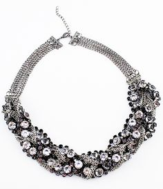 Fashionable Mix Style Crystal Full Rhinestone Chain Necklace - Sheinside.com Have one similar to this from forever21 that I love!!