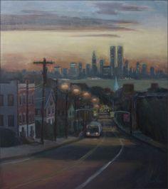 Victory Blvd at dawn Staten Island Artists - Old Staten Island