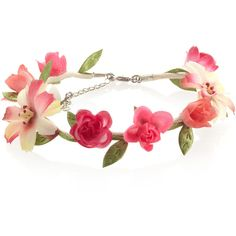 Accessorize Floral Garland Anklet (110 NOK) ❤ liked on Polyvore featuring accessories, jewelry, hair accessories, bracelets and headbands