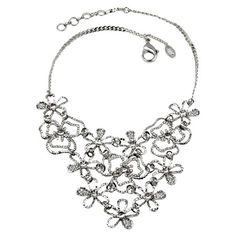 Emily Floral Necklace in Silver at Joss & Main