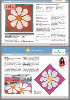 Hippie Crochet, Crochet Daisy, Granny Square Crochet Pattern, Afghan Crochet Patterns, Crochet Squares, Crochet Home, Crochet Granny, Crochet Crafts, Yarn Crafts