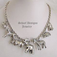 Susan Cummings for IWLF endangered species animal sterling silver charm necklace | Schaef Designs | New Mexico
