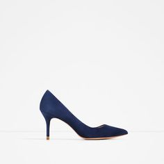 Image 2 of LEATHER MID HEEL SHOES from Zara