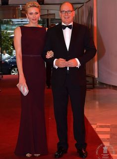 """June 30, 2016, Prince Albert and Princess Charlene of Monaco attended a gala dinner held on the occasion of the 10th anniversary of the """"Prince Albert II of Monaco Foundation"""" at the Salle des Etoiles in Monte Carlo."""