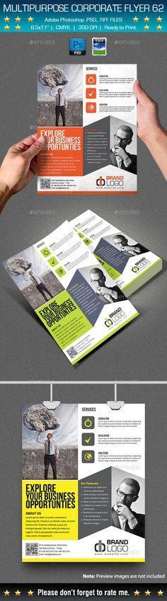 Multipurpose Corporate Flyer Template PSD #design Download: http://graphicriver.net/item/multipurpose-corporate-flyer-62/13113689?ref=ksioks