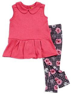 Nicole Miller - Pink with Floral Leggings Set