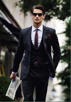 Three piece suits can help add interest to a sometimes repetitive business formal wardrobe.