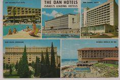 """The Dan Hotels"" - Isreal's Leading Hotels Postcard Haifa Israel, Golf Hotel, Leading Hotels, Motel, Vintage Postcards, Dan, Building, Travel, Postcards"