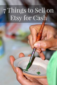 7 Things to Sell Online and Make Money with Etsy. I did not know about some of these! Great ideas for even the busiest moms. You can earn cash even without any artistic skills!