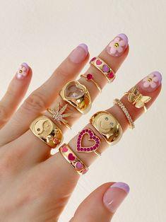 Nail Jewelry, Trendy Jewelry, Cute Jewelry, Jewelry Rings, Jewelry Accessories, Fashion Jewelry, Luxury Jewelry, Vintage Jewelry, Bijoux Piercing Septum