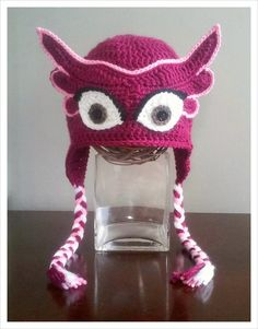 Check out this item in my Etsy shop https://www.etsy.com/listing/266830895/pj-masks-inspired-owlette-crochet-hat