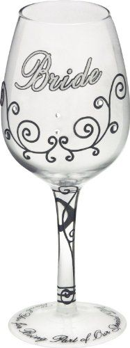 Bottom's Up 15-Ounce Bride Handpainted Wine Glass ** Click image for more details.(It is Amazon affiliate link) #liker