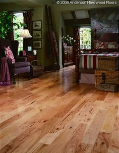 """AA120-34142  Color   Natural  Brand Anderson  Collection Mountain  Thickness 1/2""""  Width 5""""  Hardness Rating (PSI) 2300  Profile Performance  Type Engineered  Material Hickory  Scientific Name Carya spp  Country of Origin USA  Radiant Heat Ok  Anderson"""