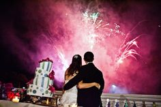 It's you and me, kid. Love the fireworks at this beautiful New Jersey wedding. Bleu Studio Photography