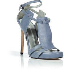 CAMILLA SKOVGAARD Sky Blue Three-Panel Stiletto Sandals