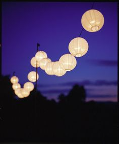 paper lanterns ... Party or not I have them on!