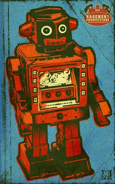 """""""Tin Bot"""" by Matthew Laznicka, Black Earth, WI // Imagekind.com – Buy stunning, museum-quality fine art prints, framed prints, and canvas prints directly from independent working artists and photographers."""