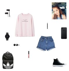 """""""don't worry about tomorrow"""" by synclairel ❤ liked on Polyvore featuring MANGO, Converse, adidas, Belk & Co., The Horse, NARS Cosmetics, Vans, Fall, cute and casual"""