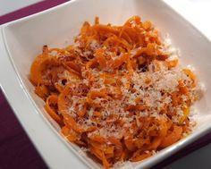 Tagliatelles de carottes au cumin