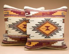 Southwest Decor Accents - Southwestern Pillows & Pillow Covers - Southwestern Pillow Covers - Page 1 Southwestern Decorating, Southwest Decor, Southwest Style, Wool Pillows, Throw Pillows, Rustic Wood Furniture, Tuscan Furniture, Hand Weaving, Pillow Covers