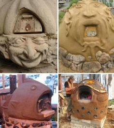 Four à pizza bois : Cob Creations: 18 Natural Homes, Pizza Ovens & More cob-building-sculptural-ovens Sharing is caring, don't forget to share ! Home Pizza Oven, Pizza Oven Outdoor, Outdoor Cooking, Wood Fired Oven, Wood Fired Pizza, Cob Building, Clay Oven, Bread Oven, Four A Pizza