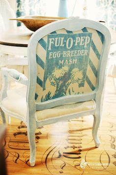 Feed Sack Chair & Finds