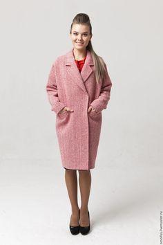 Пальто Красное и белое из кашемира и шерсти от AMODAY