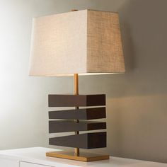 Block By Block Wood Table Lamp. A sophisticated art!