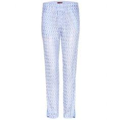 mytheresa.com - Crochet-knit straight-leg trousers