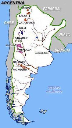 Risultati immagini per argentina cartine vino