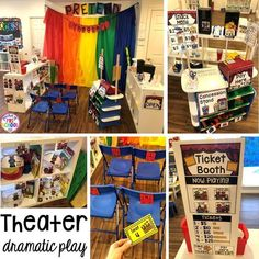 Fairy Tale Theater dramatic play! Favorite Fairy Tales activities for every center plus a shape crown freebie all designed for preschool, pre-k, and kindergarten #fairytalestheme #preschool #prek #kindergarten