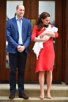 Doting mother Kate couldn't take her eyes of her newborn as she left the Lindo Wing with h... #katemiddleton