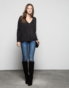 Bershka V-neck jumper. Discover this and many more items in Bershka with new products every week