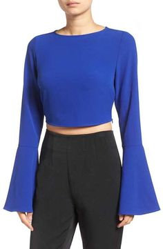 1cd98ce0238bd1 KENDALL + KYLIE Bell Sleeve Crop Top Kendall And Kylie Clothing