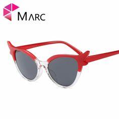 1d5c84d8fa6 MARC UV400 2018 NEW WOMEN design sunglasses Oculos fashion Classic Plastic  Leopard gafas Gray sol Cat eye Pink Green-in Sunglasses from Women s  Clothing ...