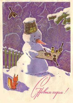 View album on Yandex. Vintage Christmas Cards, Retro Christmas, Christmas Snowman, Xmas Cards, Vintage Cards, Christmas And New Year, Christmas Time, Christmas 2017, Flower Fairies