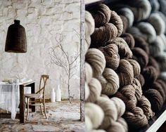 piles of wool via Wabi Sabi